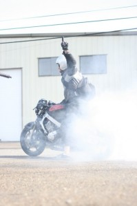 CBR 600 Cafe Racer Burnout