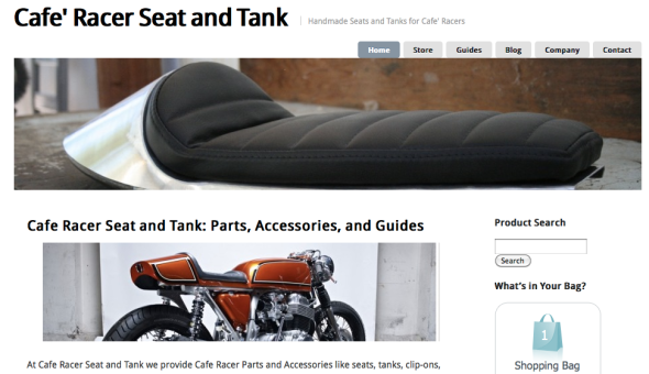 Cafe Racer Seat and Tank eStore parts and accessiories caferacerseatandtank