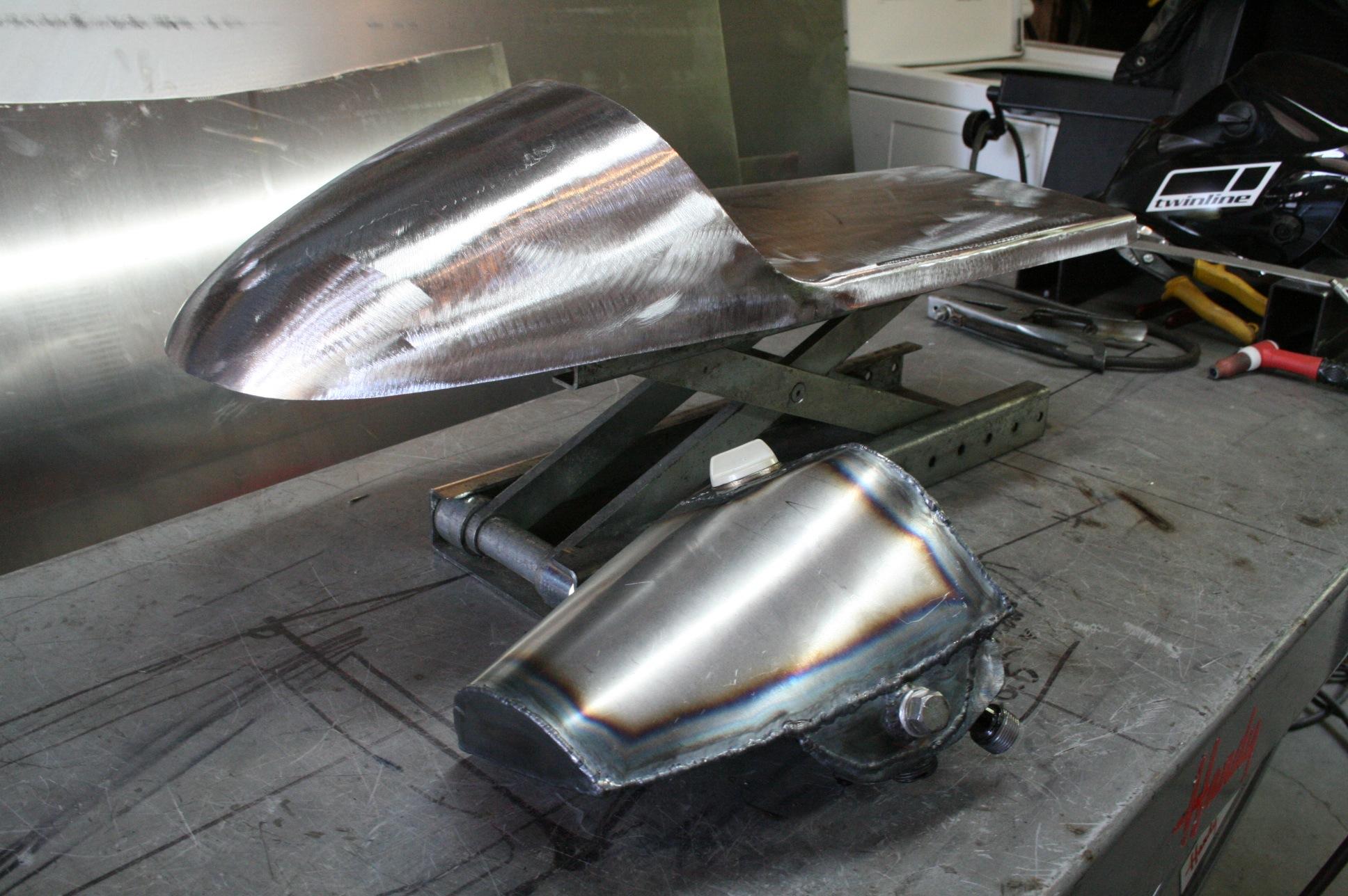 honda cb750 undertail oil tank seat is complete…. | h.o.f.i custom