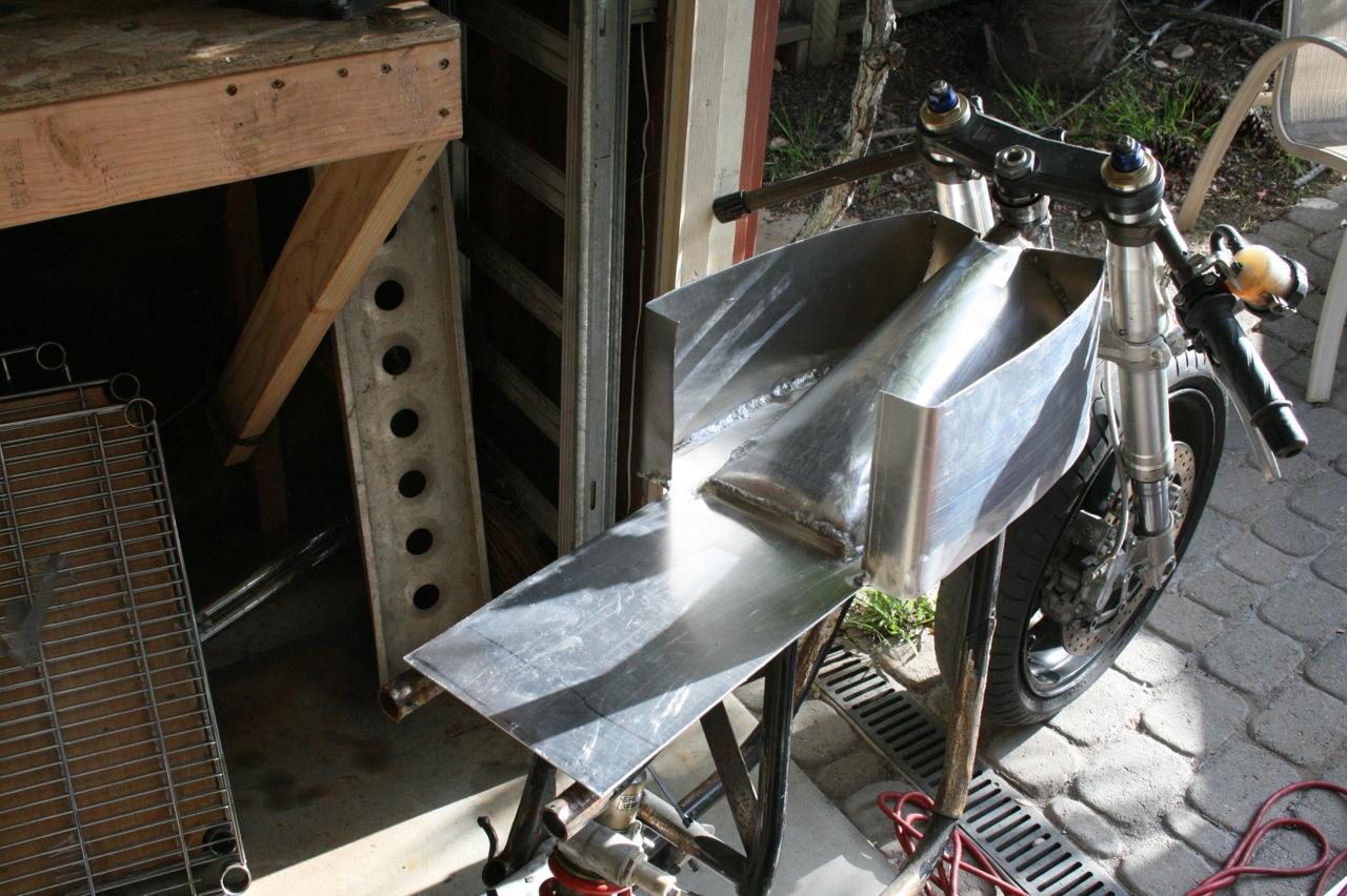 Custom Aluminum Cafe Racer Gas Tank Kawasaki H1 IMG_5794 | H.O.F.I custom cafe' racers, seats ...