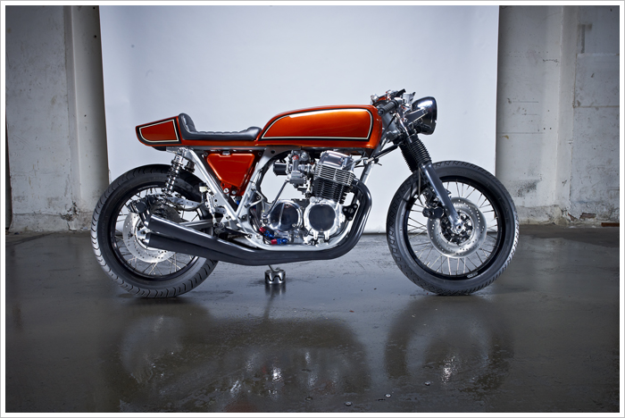 Honda CB750 Cafe Racer Custom Seat Paint 836 Arhmra
