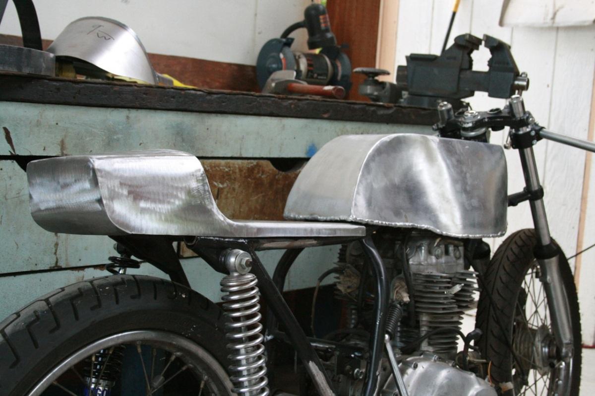 Honda Cb360 Aluminum Fuel Tank Cb400f Dunstal Seat On