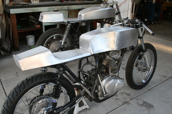 Aluminum Cafe Racer Seat and tank