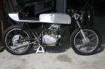 Aluminum Cafe racer tank and seat honda