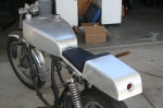 under tail oil tank cafe racer seat cr750