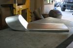 Aluminum custom built cafe racer pan
