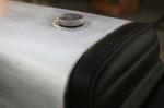 Aluminum Cafe Racer oil in oil tank seat upholstery