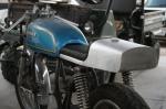 CB750 Cafe Racer Seat Aluminum Oil Tank on mule