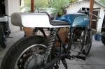 CB750 Cafe Racer Seat Aluminum Oil Tank hump