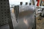 CB750 Cafe Racer Seat Aluminum Oil Tank welded