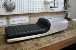 CB750 Cafe Racer Seat Aluminum Oil Tank tuck rolled