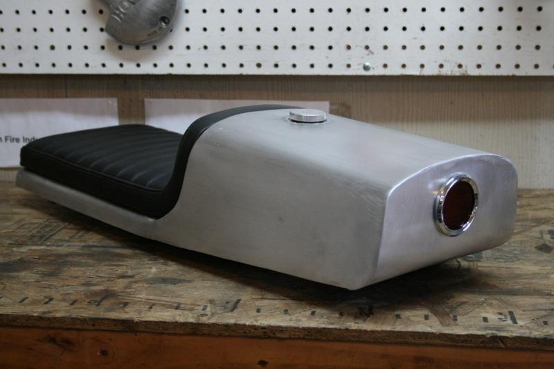 Aluminum Cafe Racer Seat oil tank