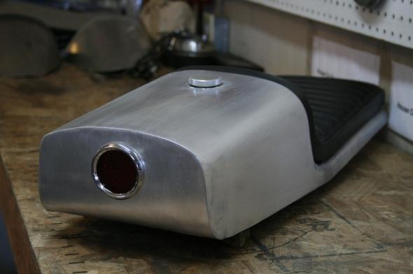 CB750 Cafe Racer Seat Aluminum Oil Tank