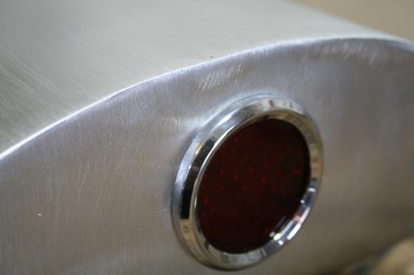 CB750 Cafe Racer Seat Aluminum Oil Tank tail light