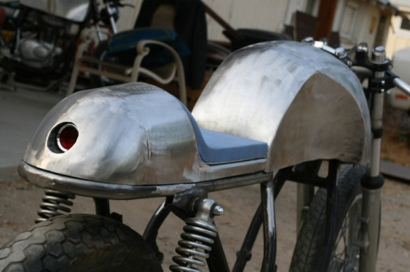 Cafe Racer Combo cafe seat and tank steel hand made
