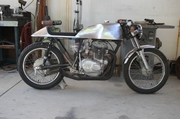 Honda CB Custom Tank Cafe Racer Upholstery steel seat