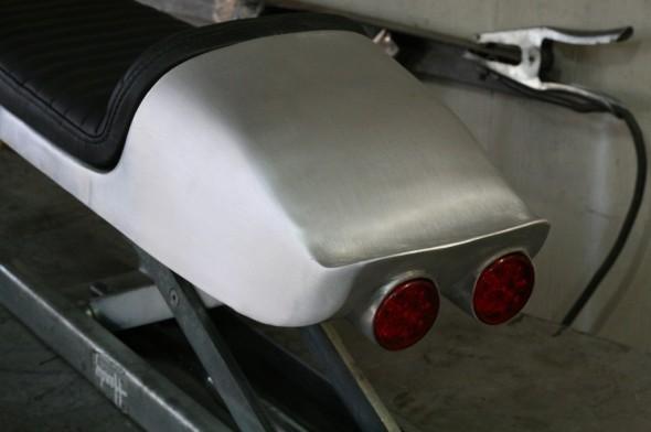 Aluminum hand made seat cafe racer honda cb suzuki Yamaha