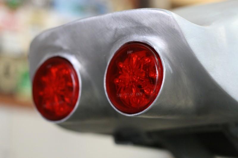 Aluminum Cafe Racer Seat LED Lights