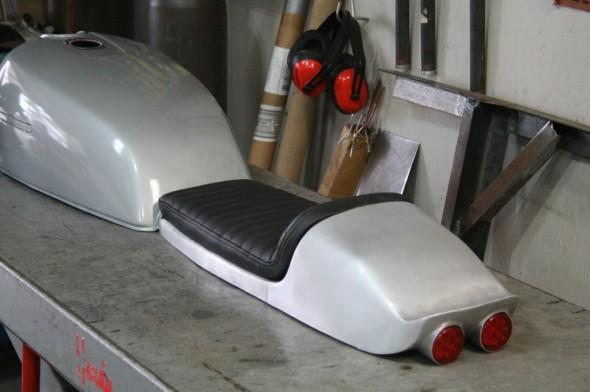 Suzuki aluminum cafe racer seat